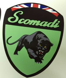 Scomadi Logo Badge Printed Decal Sticker Mod Custom MINT GREEN FP TL 50 125 200